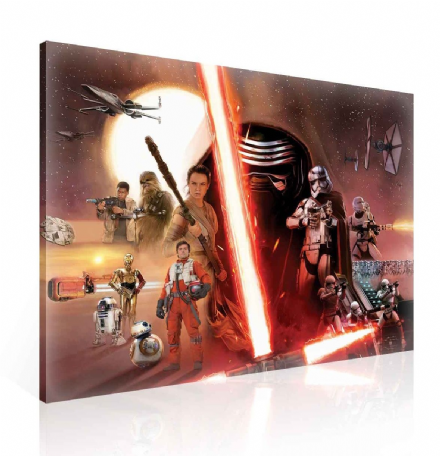 XXL Star Wars Force Awakens Canvas 100x75cm